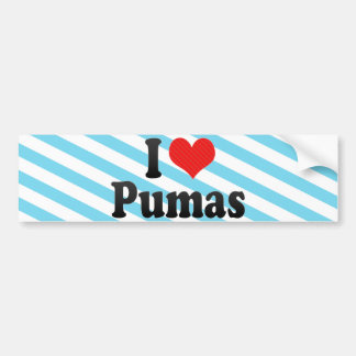 I Love Pumas Bumper Sticker
