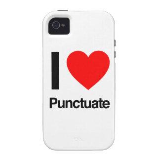 i love punctuate Case-Mate iPhone 4 cases
