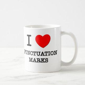 I Love Punctuation Marks Coffee Mug