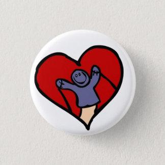 I Love Puppets 3 Cm Round Badge