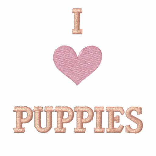 I LOVE PUPPIES - GREAT GIFT IDEA! HOODY