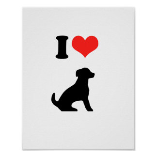I Love Puppies Poster