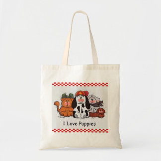 I Love Puppies Tote