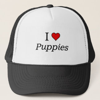 I love puppies trucker hat