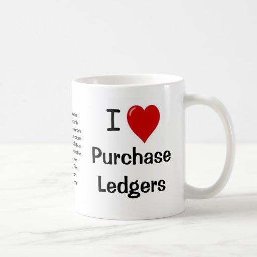 I Love Purchase Ledgers - Triple Sided Mug