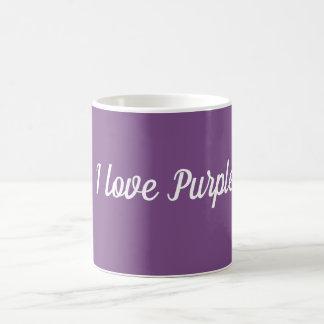 I  Love Purple white Mug