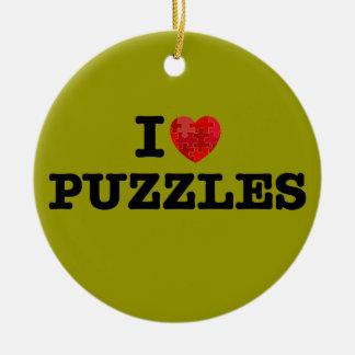 I Love Puzzles Ornament