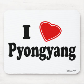I Love Pyongyang Mouse Pad
