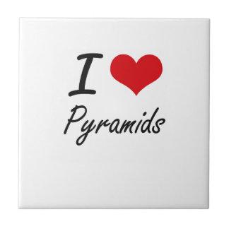 I love Pyramids Small Square Tile