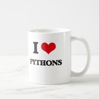 I Love Pythons Coffee Mug