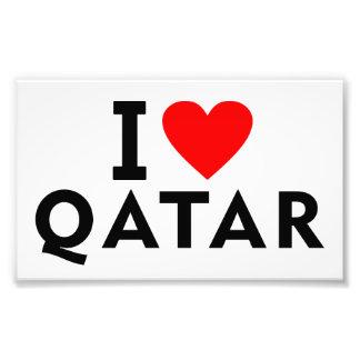 I love Qatar country like heart travel tourism Photo Print