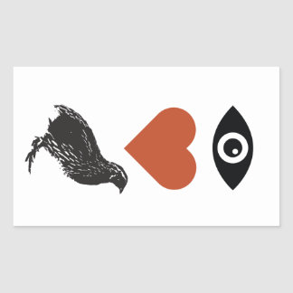 I Love Quail Stickers