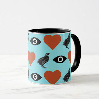 I Love Quails Mug