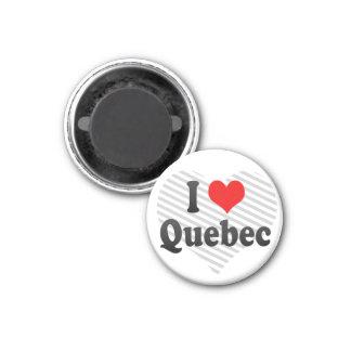 I Love Quebec, Canada 3 Cm Round Magnet