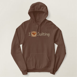 I Love Quilting Embroidered Hoodie