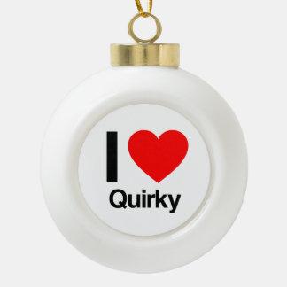 i love quirky ceramic ball decoration