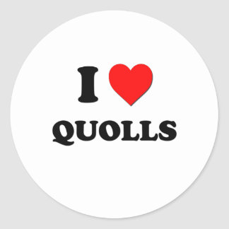 I Love Quolls Classic Round Sticker