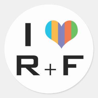 I love R+F Round Sticker