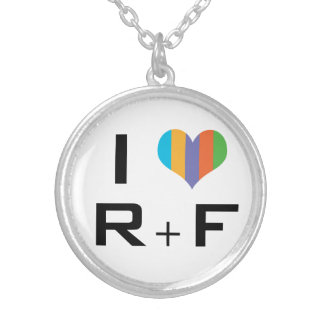 I love R+F Skin care consultants Silver Plated Necklace