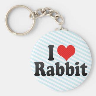 I Love Rabbit Keychains