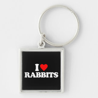 I LOVE RABBITS KEYCHAINS