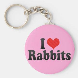 I Love Rabbits Key Chains