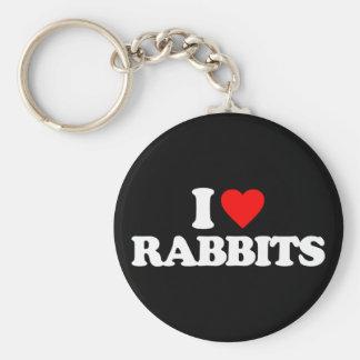 I LOVE RABBITS KEY CHAIN