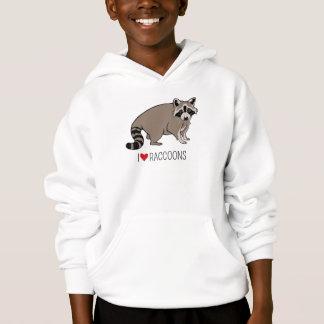 I Love Raccoons - Cartoon Raccoon