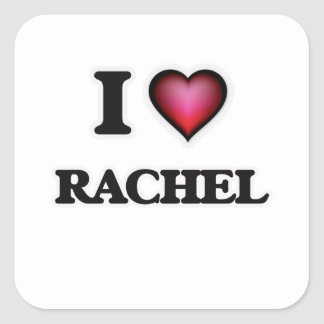 I Love Rachel Square Sticker