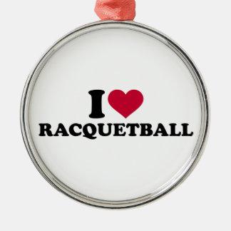 I love Racquetball Metal Ornament