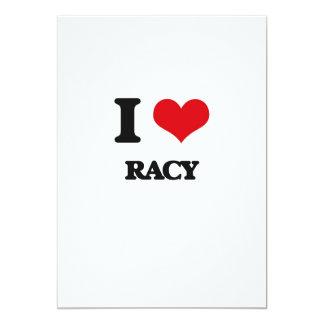 """I Love Racy 5"""" X 7"""" Invitation Card"""