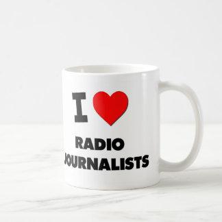 I Love Radio Journalists Basic White Mug