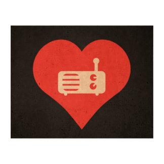 I Love Radio Listeners Photo Cork Paper