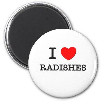 I Love Radishes 6 Cm Round Magnet