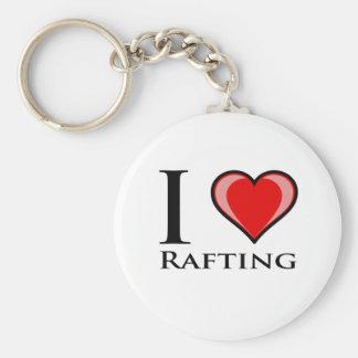 I Love Rafting Key Ring