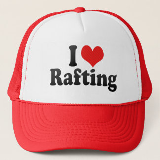 I Love Rafting Trucker Hat