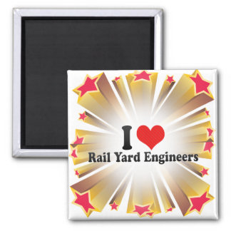 I Love Rail Yard Engineers Refrigerator Magnet