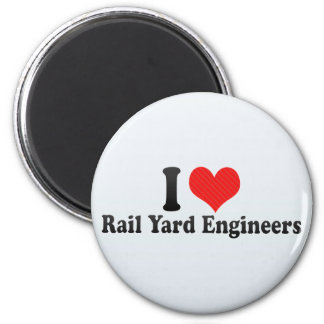 I Love Rail Yard Engineers Fridge Magnet