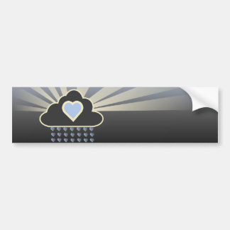 I Love Rain Clouds Bumper Sticker