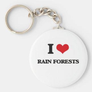 I Love Rain Forests Key Ring