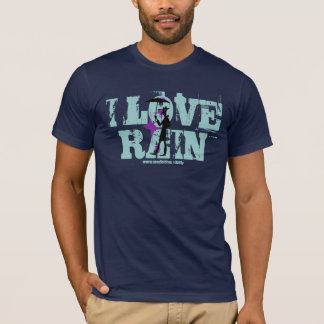 I love rain man with umbrella cool graphic t-shirt