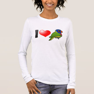I Love Rainbow Lorikeets Long Sleeve T-Shirt