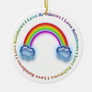 I love rainbows ornament