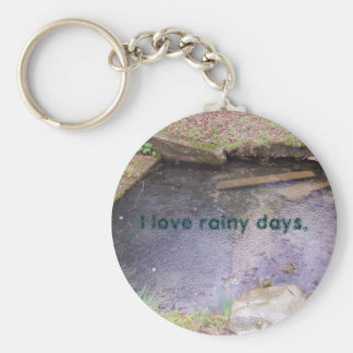 I Love Rainy Days Key Ring
