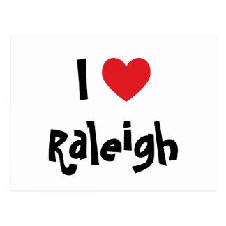 I Love Raleigh Postcard