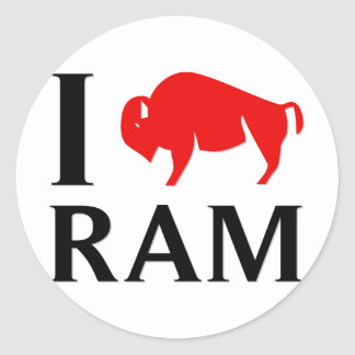 I Love Ram Classic Round Sticker