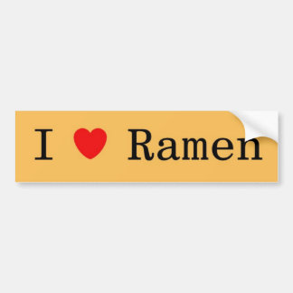 I Love Ramen Bumper Sticker