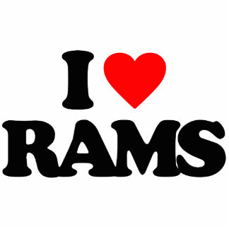 I LOVE RAMS ACRYLIC CUT OUT