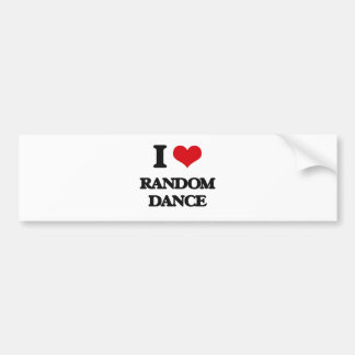 I Love RANDOM DANCE Bumper Sticker