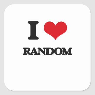 I Love Random Square Sticker